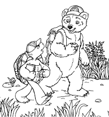 Franklin And Big Bear Coloring Page Animal Pages Of Franklin Coloring Pages
