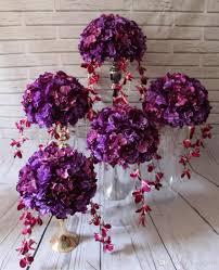 flower balls 2018 table centerpiece flower balls wedding purple flower road