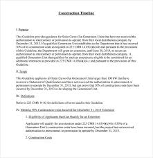 sample construction timeline 6 documents in pdf word