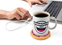best coffee mug warmer amazon com bigmouth inc coffee and a donut usb mug warmer