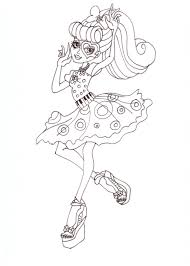 free printable monster high coloring pages operetta dot dead