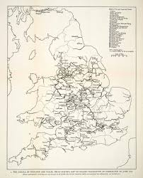 Wales England Map by 1958 Print Map England Wales United Kingdom Britain Canals Route