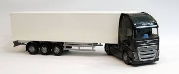 trailer volvo emek 81135 volvo fh box trailer truck black robbis hobby shop