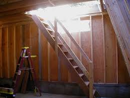 2005 rebuilding the garage stairs