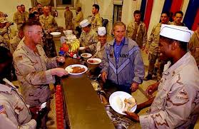file president bush thanksgiving day dinner in baghdad 2003 jpg