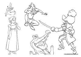 tinkerbell peter pan coloring pages print kids coloring