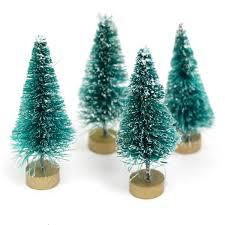 Christmas Tree Decoration Packs Uk by Mini Bottlebrush Christmas Tree Bauble Fillers 4 Pack Hobbycraft