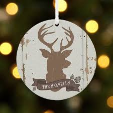 Christmas Deer Decorations Walmart by Personalized Rustic Deer Family Name Christmas Ornament Walmart Com