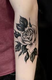 unique hand tattoo on right front shoulder