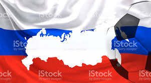 russia football map white soccer football russia russian map and flag 3d
