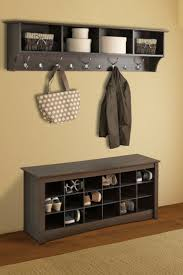 decorations cool black wall shelf for basket storage with metal