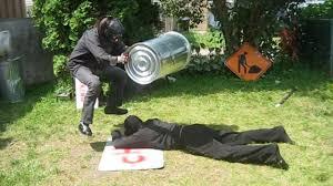 mask vs mask match scythe vs robb banks chw backyard wrestling