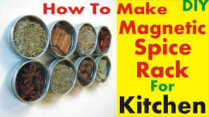 Diy Magnetic Spice Rack How To Make Your Own Diy Magnetic Spice Rack For Kitchen Youtube