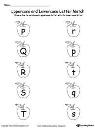 matching uppercase and lowercase letters p through t