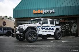 police jeep wrangler police themed jk with off road mods on fuel beast wheels u2014 carid