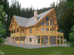 a frame style house durand creek a frame log home plan 088d 0045 house plans and more
