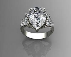 pear shaped ring pear shaped diamond ring 3d printable model cgtrader