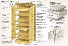Bookshelf Woodworking Plans by Hidden Compartment Bookshelf Canadian Woodworking Magazine