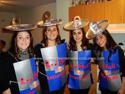 Group Homemade Halloween Costume Ideas Coolest Homemade Red Bull Group Costume Halloween Costumes