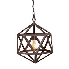 polyhedron large pendant light fixture bulb included matte