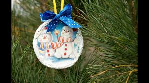 decoupage lesson 54 diy christmas tree decorations recycled