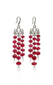 Red Chandelier Earrings Ruby And Diamond Chandelier Earrings By Martin Katz Moda Operandi