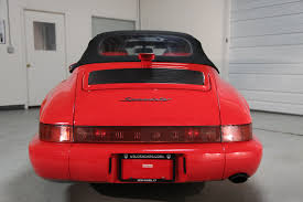 porsche 964 red 1994 porsche 964 speedster guards red 10 512 miles sloan cars