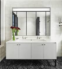 Industrial Style Bathroom Vanities by Bathroom Rectangular Mirror With Yellow Bathroom Vanity Also