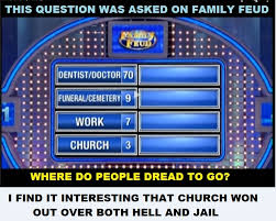 family feud asked for the top 4 answers to the question where do