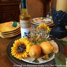 themed tablescapes lemon themed table setting with lemon dishware and limoncello