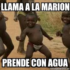 meme i m sexy and i know it llama a la marion prende con agua