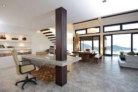 bureau beton ciré design interieur sol béton ciré bureau maison assorti colonne