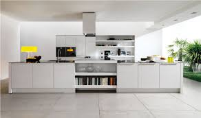 kitchen contemporary kitchen design with white island and glass
