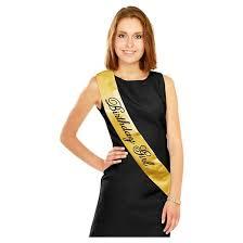 blank sashes black gold birthday girl sash target