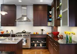 cool kitchen cabinets l shape kitchen decoration using modern walnut wood kitchen