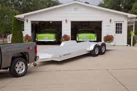 this is a featherlite open car trailer model 3110 this trailer