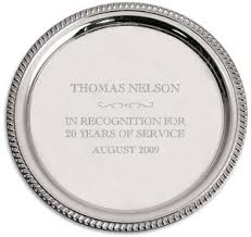 engraved silver platter engraving by services