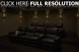 movie home theater leather home theater with wall sconces suitable home theater