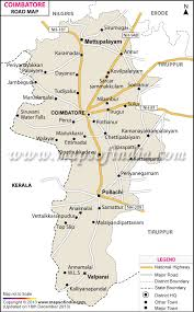 map on road coimbatore road map