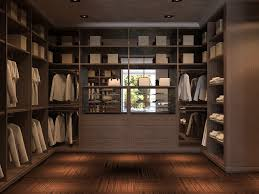 glamorous walk in wardrobe designs with brown oaks closets