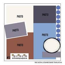 32 best free digital scrapbooking templates images on pinterest