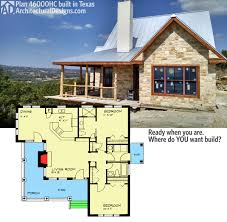 1200 sq ft cabin plans plan 46000hc hill country classic country houses porch and texas