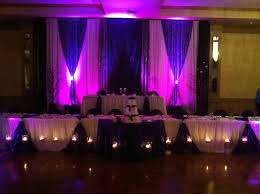 beautiful purple flowers wedding decoration