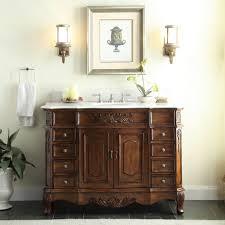 42 Bathroom Vanity by Adelina 42 Inch Traditional Old Fashioned Look Bathroom Vanity