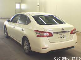 nissan bluebird new model 2014 nissan bluebird sylphy white for sale stock no 37110