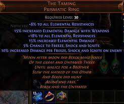 best rings poe images New unique prismatic ring the taming pathofexile png