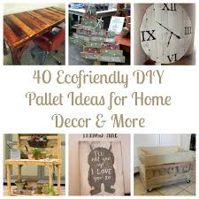 For Home Decor 40 Ecofriendly Diy Pallet Ideas For Home Decor More