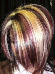 blonde and burgundy hairstyles 461 best hair styles color images on pinterest colourful hair