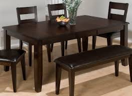 Dining Room Table Set With Bench Bedroom Archaically Wooden Table With Bench And Chairs On Wooden