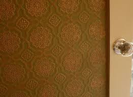 look painting embossed wallpaper apartment therapy
